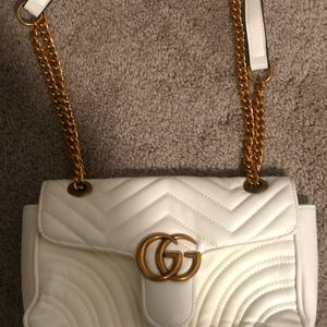 GG Marmont bag in white